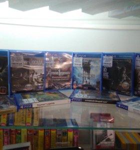 Диски PS4 в ассортименте