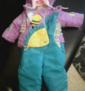 детский конверт и куртка с комбинизоном