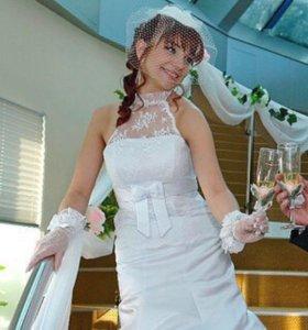 Свадебное платье!!! Размер 42-46