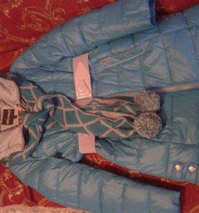 Куртка зимняя на девочку 42р
