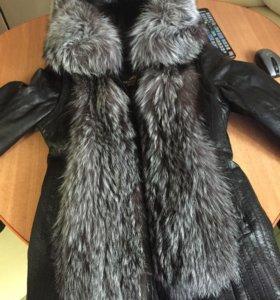 Куртка жилет с чернобуркой