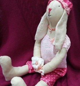 Зайка (интерьерная кукла) ручная работа