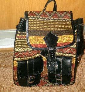 Рюкзак кожанный новый