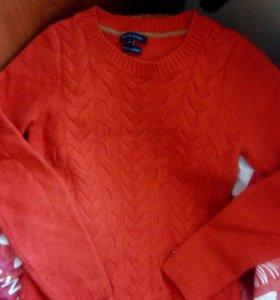 Кашемировый свитер, р40-42