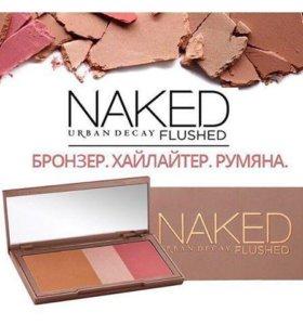 Румяна+Хайлайтер+Бронзер Naked Flushed