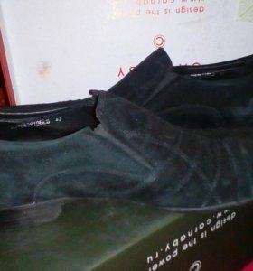 Мужские туфли замш