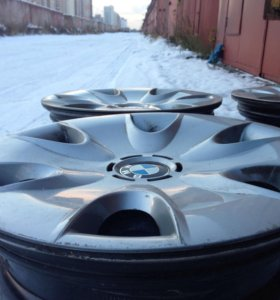 Диски штампованные r16 + колпаки BMW original