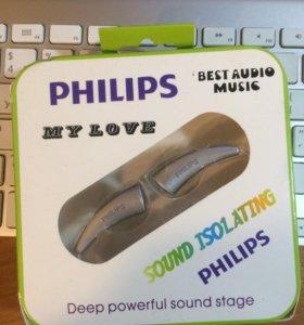 Наушники-гарнитура Philips Best Audio серебристые