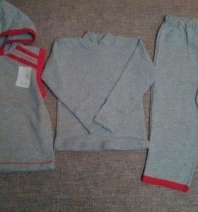 Новый комплект жилет кофта штаны