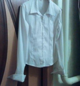 Школьная стрейчивая блуза