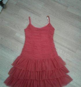 Платье сарафан с открытой спиной