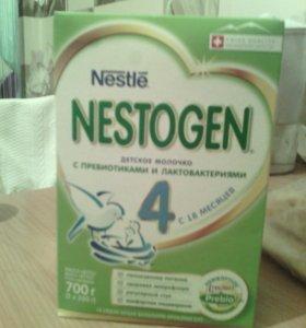 Коробка детской смеси nestogen 4