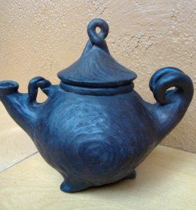Чайник ручная работа глина #1