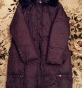 Пальто зимнее c натуральным мехом
