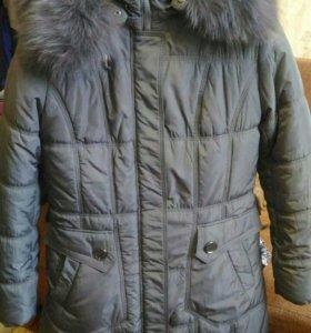 Зимний пуховик пальто женский