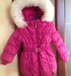 Зимняя куртка удлиненная 110-116 р