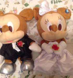 Микки Маус Минни Маус. Свадебная пара.