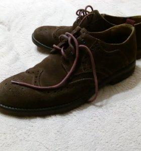 Туфли мужские, замша