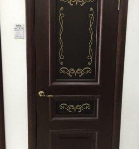 Дверь Ирида Н (широкий багет), бургундский дуб