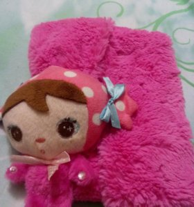 Шарфик детский с куколкой