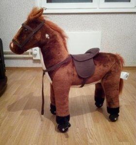 Лошадка-каталка музыкальная