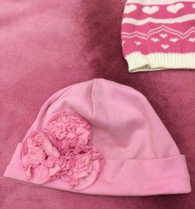 шапочки для девочки, примерно на 4-6 лет, фирменны