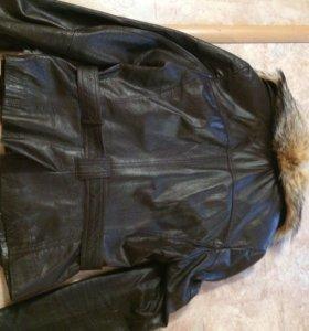 Куртка кожаная,женская,размер 42-44
