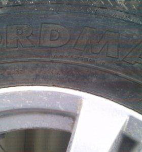Продам 4- колеса шипованные на литых дисках на 16