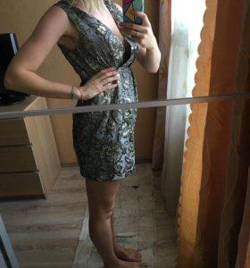 Платье с цветами ( с люрексом)