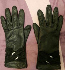 Перчатки Кожанные 6.5. Теплые