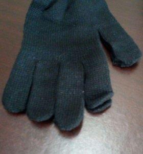 Перчатки 7 класс, х/б, чёрные