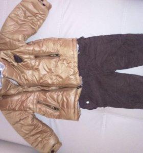 Зимняя курточка и зимнии вельветовые брючки