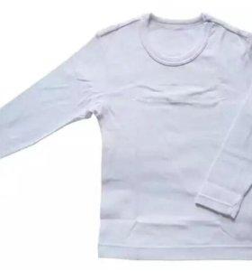 Термо футболка белая с длинным рукавом