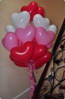 Воздушные гелиевые сердечки