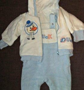 Плюшевый костюмчик на малыша
