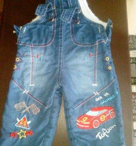 Тёплые джинсы детские