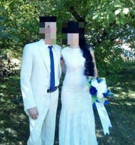 Продам свадебное, вечернее платье