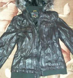Куртка утепленная кожзам