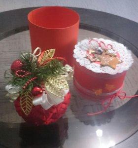Подарочные новогодние шары и игрушки ручной работы