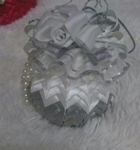 Подарочные новогодние шары  ручной работы