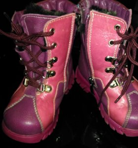 Детские зимние сапоги ботинки 24 размер.