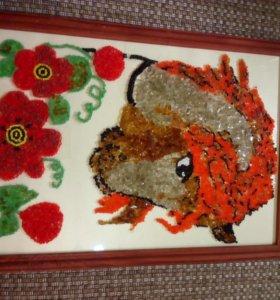 """Картина """"Лошадь в цветах"""""""