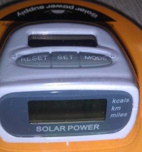 Шагомер с солнечной батареей