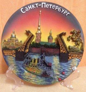 🍀 Сувенирная тарелка СПБ