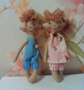 Куклы брат с сестрой самодельные