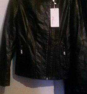 Кож.Куртка.жен.Новая