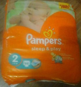 "Pampers ""Sleep and Play"" 2 размер 88 шт"