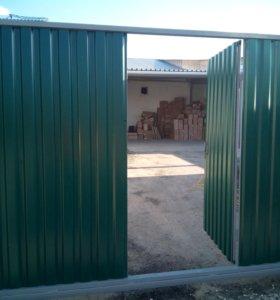 Забор из проф листа.