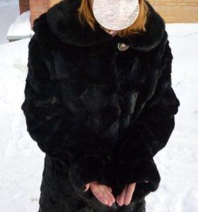 Стильная норковая шуба 42р,натуральный мех.