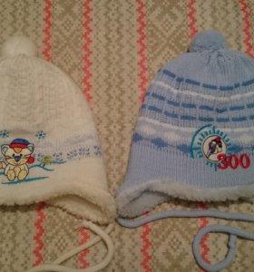 Новые зимние  шапочки для ребенка до 1 года